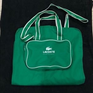 Lacoste green bag